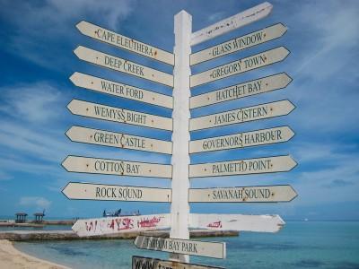 signpost - Tarpum Bay, Eleuthera